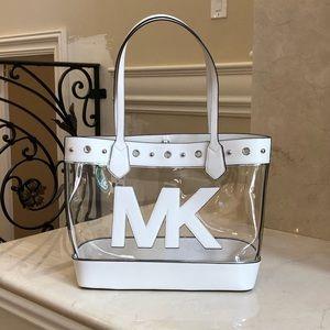 NWT Michael Kors mountauk clear large tote handbag